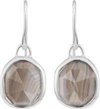 MONICA VINADER - Siren sterling silver and grey agate wire ...
