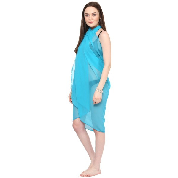 Sarong Women Solid Plain Beach Swimsuit Wrap Size Sheer Cover