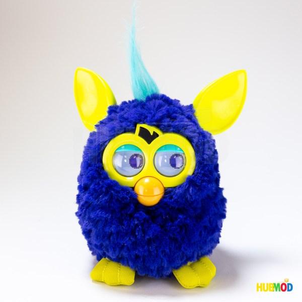 Hasbro Furby 2012 Interactive Starry Night Plush Toy Blue Yellow