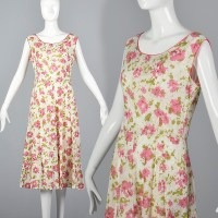 1930s Loose Flowy Cotton Simple Summer Day Dress ...