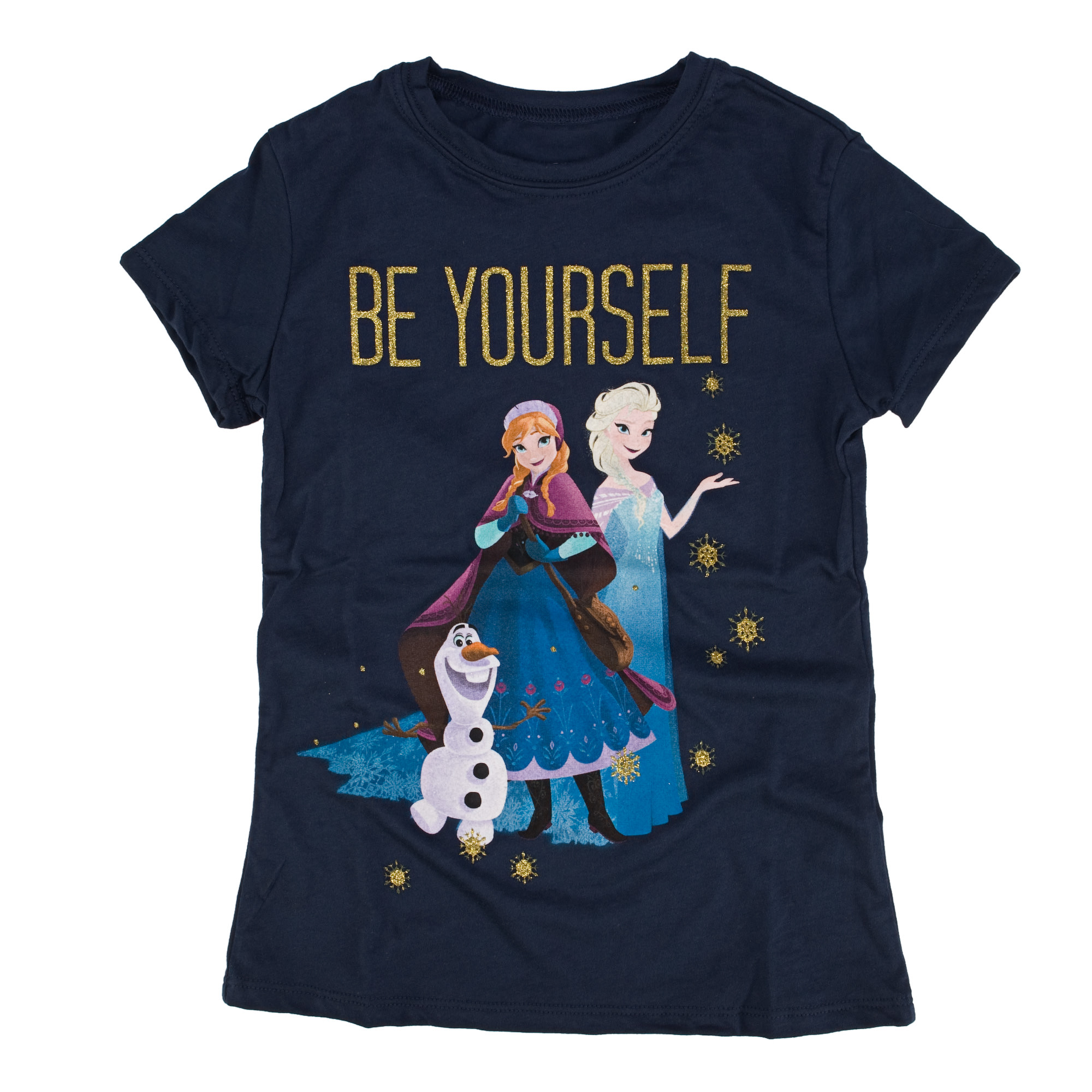 Disney Frozen Be Yourself Youth Navy Blue T Shirt