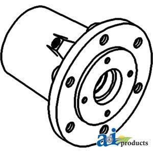 102718A Minneapolis Moline Front Wheel Hub (6 bolt) Models