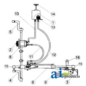 FD105 Ford Power Steering Conversion Kit Models 2000, 3000