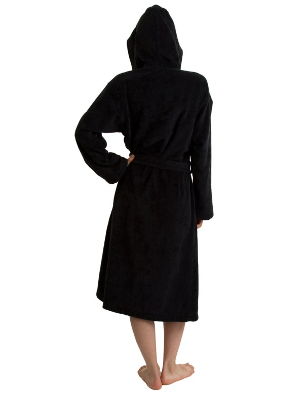 Towelselections Women' Robe Hooded Terry Velour Cotton Bathrobe