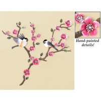 Floral Cherry Blossoms and Branches Metal Wall Art Iron