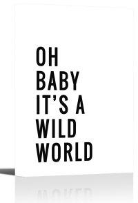 Oh Baby World Quote Nursery Word Art Print Wall Decor
