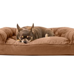Medium Sofa Bed Brown With Blue Pillows Furhaven Pet Quilted Pillow Warm