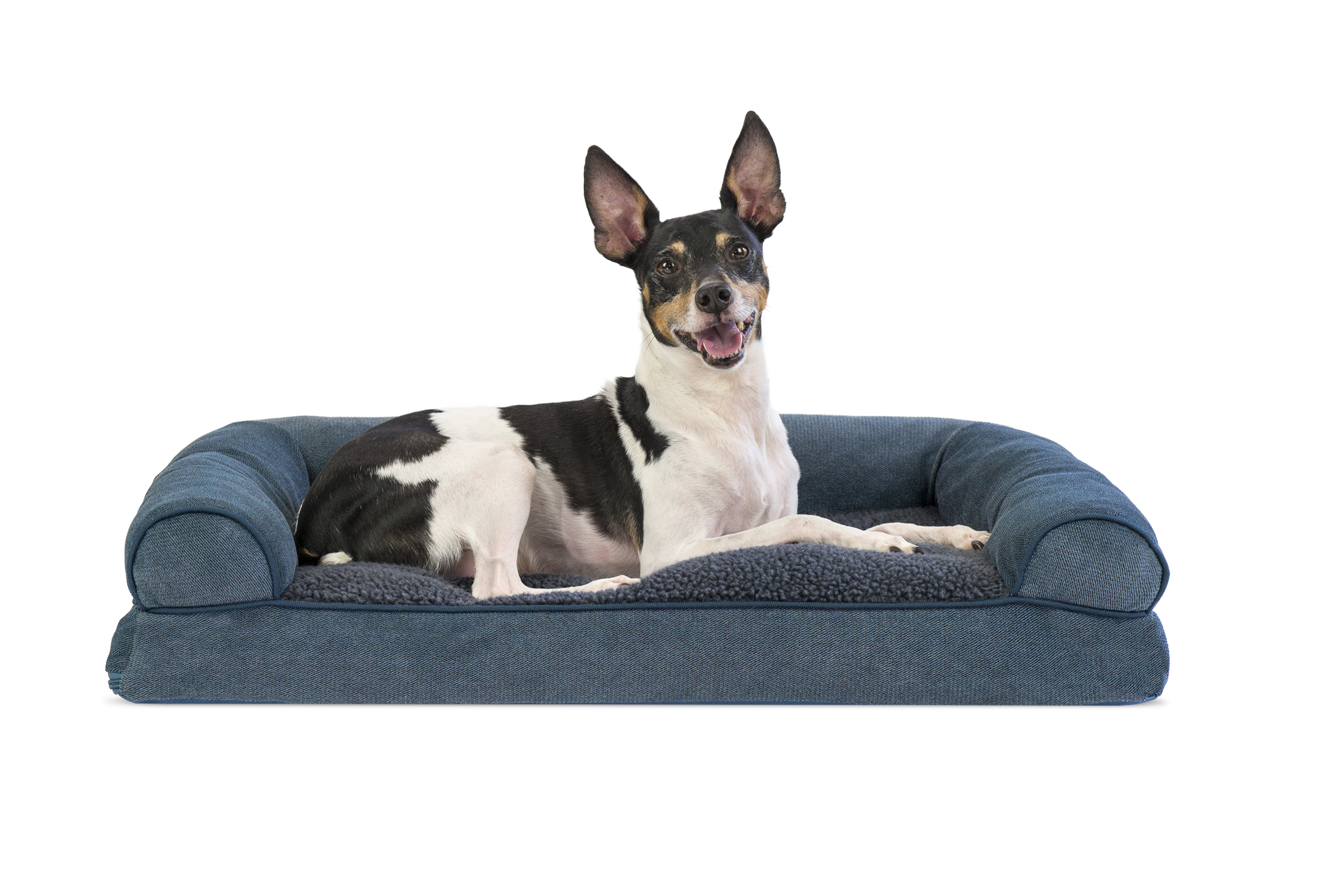 soft sofa dog bed leather or fabric dogs faux fleece and chenille woven pillow pet