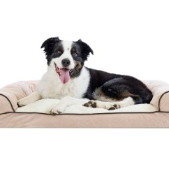 Soft Sofa Dog Bed Ready Made Armless Slipcovers Faux Fleece And Chenille Woven Pillow Pet