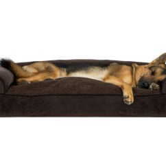 Soft Sofa Dog Bed Singapore Faux Fleece And Chenille Woven Pillow Pet