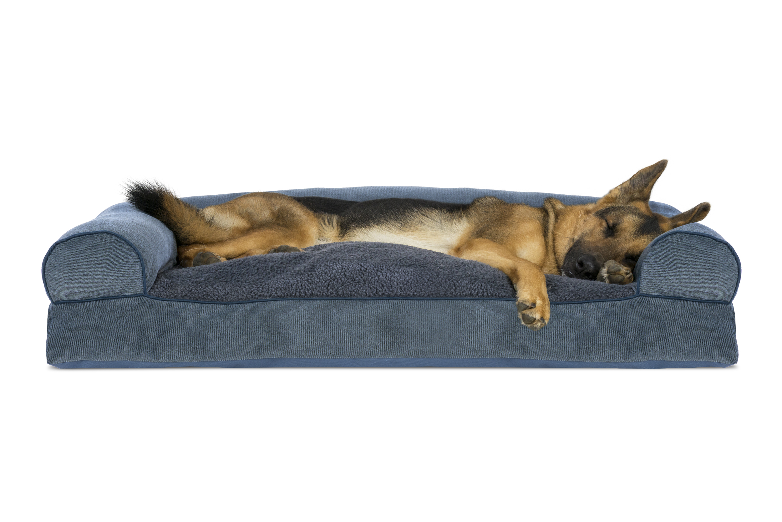 soft sofa dog bed old styles faux fleece and chenille woven pillow pet
