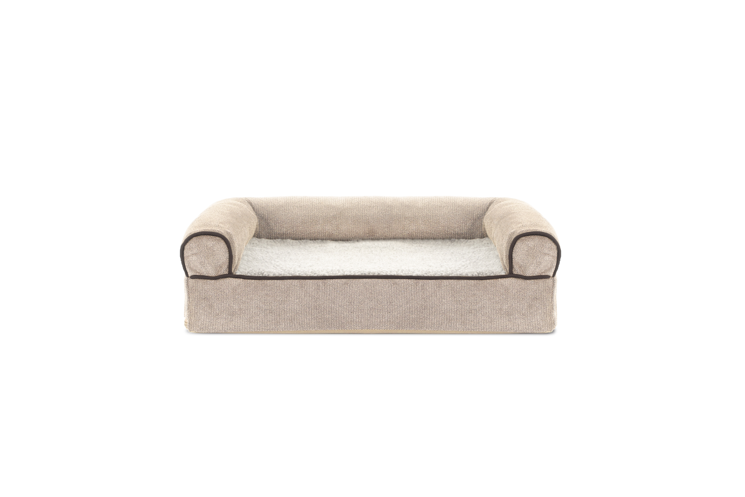 soft sofa dog bed crate and barrel sleeper sofas faux fleece chenille woven orthopedic pet