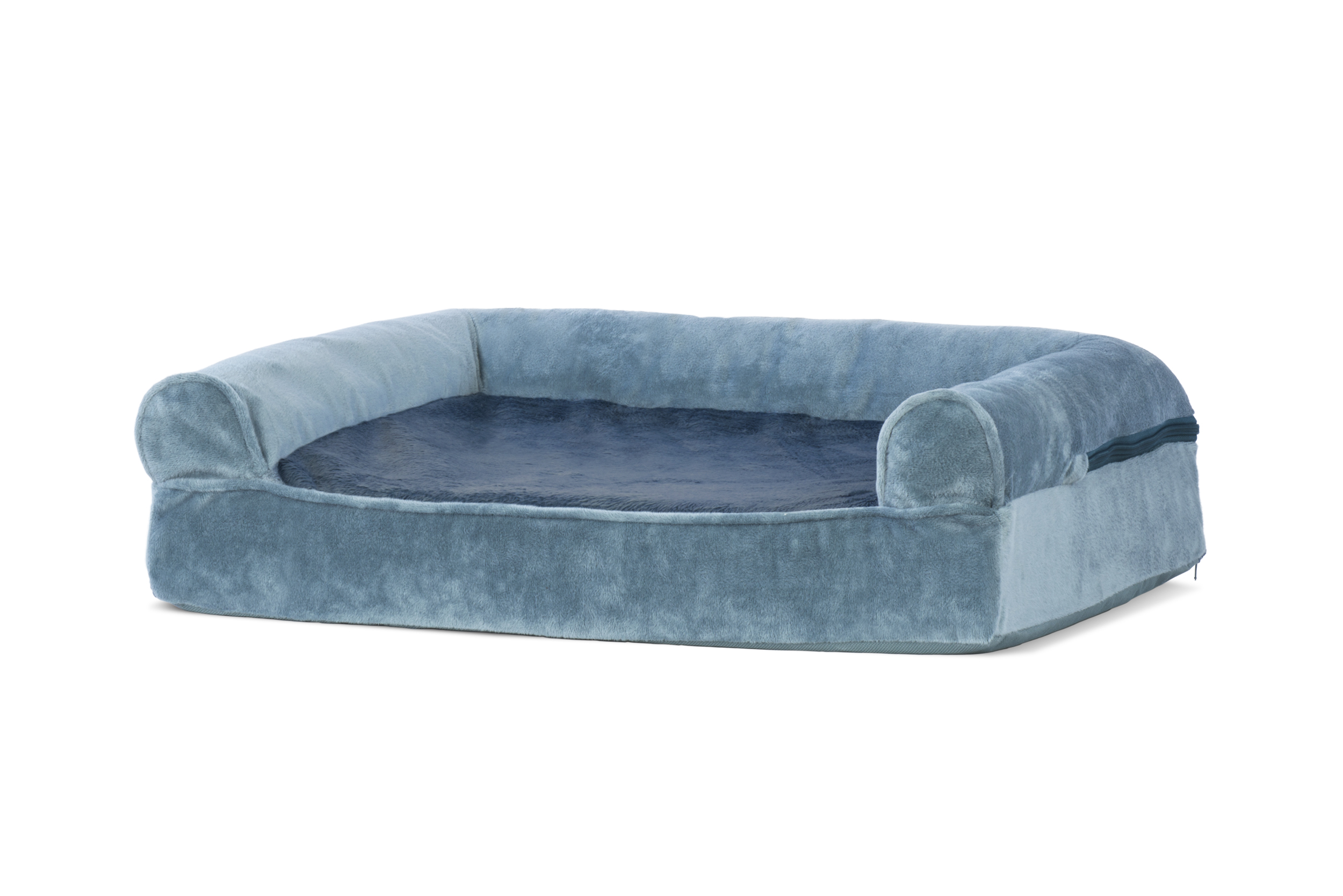 orthopedic sofa dimensions of queen bed faux fur and velvet pet dog couch ebay