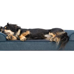 Soft Sofa Dog Bed Baby Chair With Name Faux Fleece And Chenille Woven Orthopedic Pet