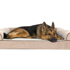 Soft Sofa Dog Bed Feet Protectors Faux Fleece And Chenille Woven Orthopedic Pet