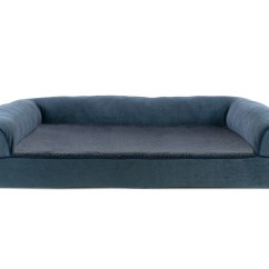 Orthopedic Sofa Modern L Shaped Faux Fleece And Chenille Soft Woven Pet Bed