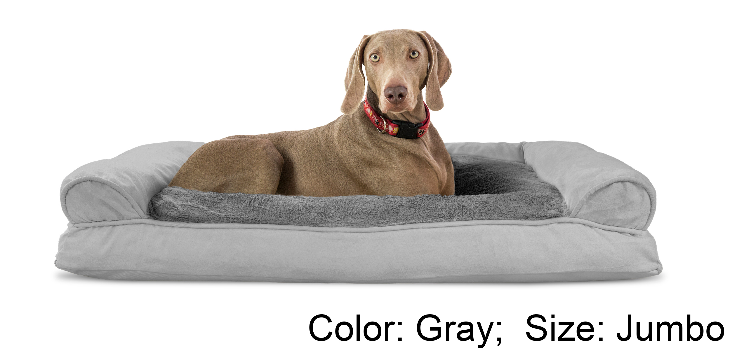 sofa dog bed skymall vs pull out couch furhaven plush and suede pillow pet ebay