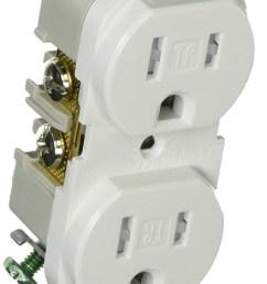 cooper wiring trbr15w bxsp duplex receptacle white lot of 3 [ 1000 x 1867 Pixel ]