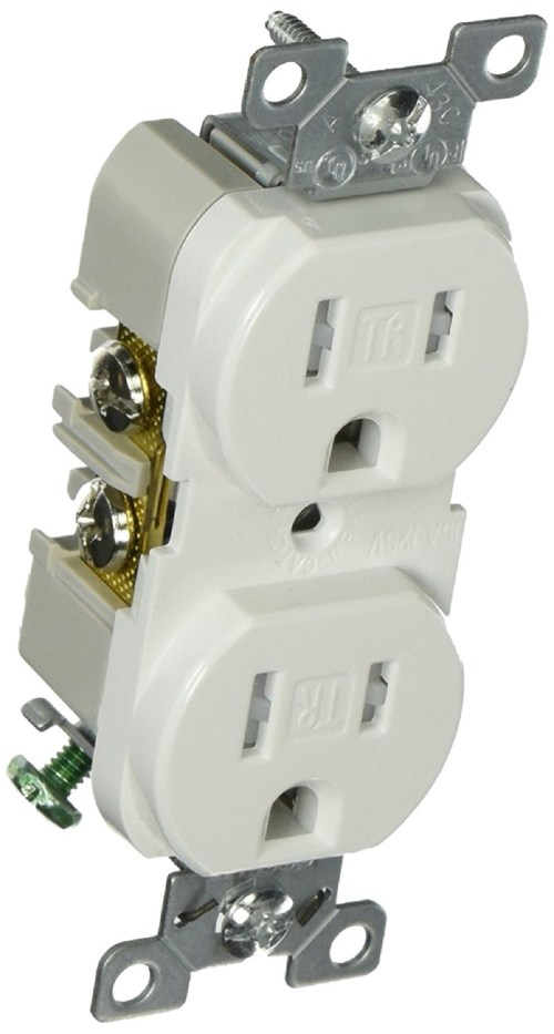 small resolution of cooper wiring trbr15w bxsp duplex receptacle white lot of 3