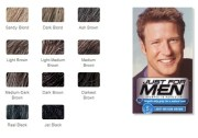 men shampoo in hair color