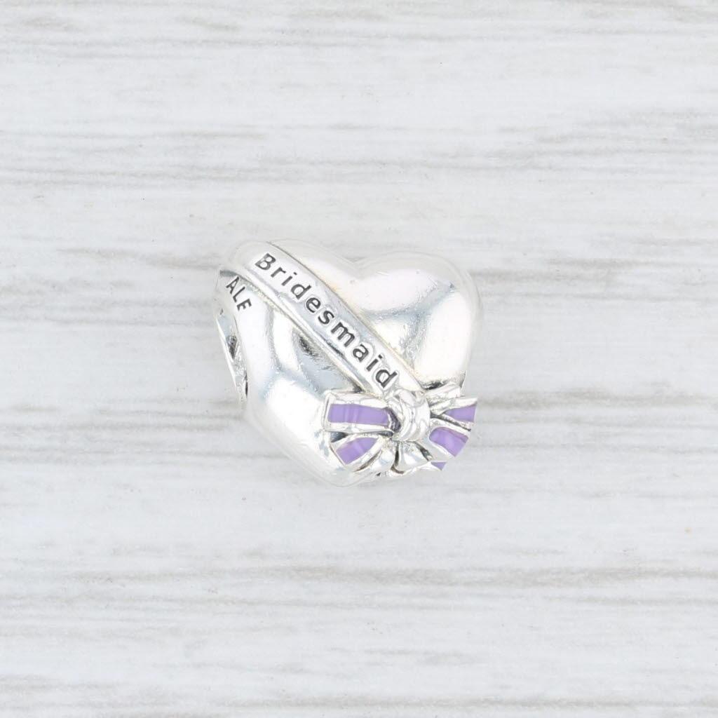 New Authentic Pandora Best Bridesmaid Charm 797272EN159