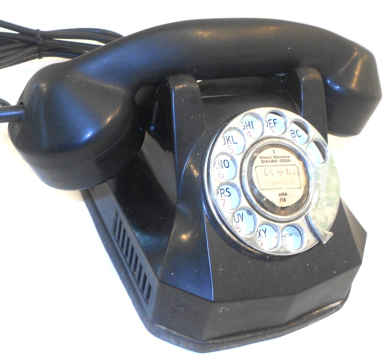 hight resolution of  no breaks or major damage to the phone body itself needs new plug and a good polish great art deco style desk phone to restore for your next project