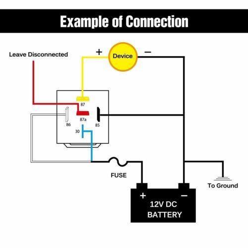 5x Automotive Relay Harness Socket Set 12V 30/40 Amp 5-Pin