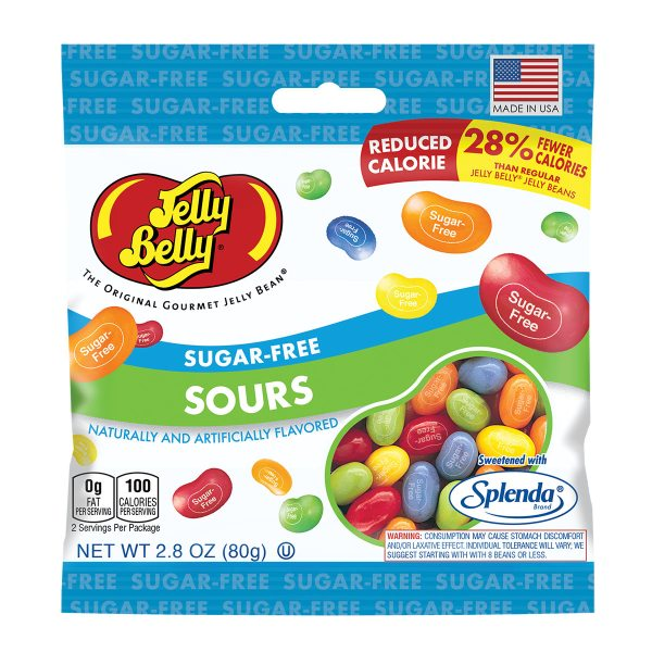 Jelly Belly SugarFree Sours Jelly Beans 28 oz Bag eBay