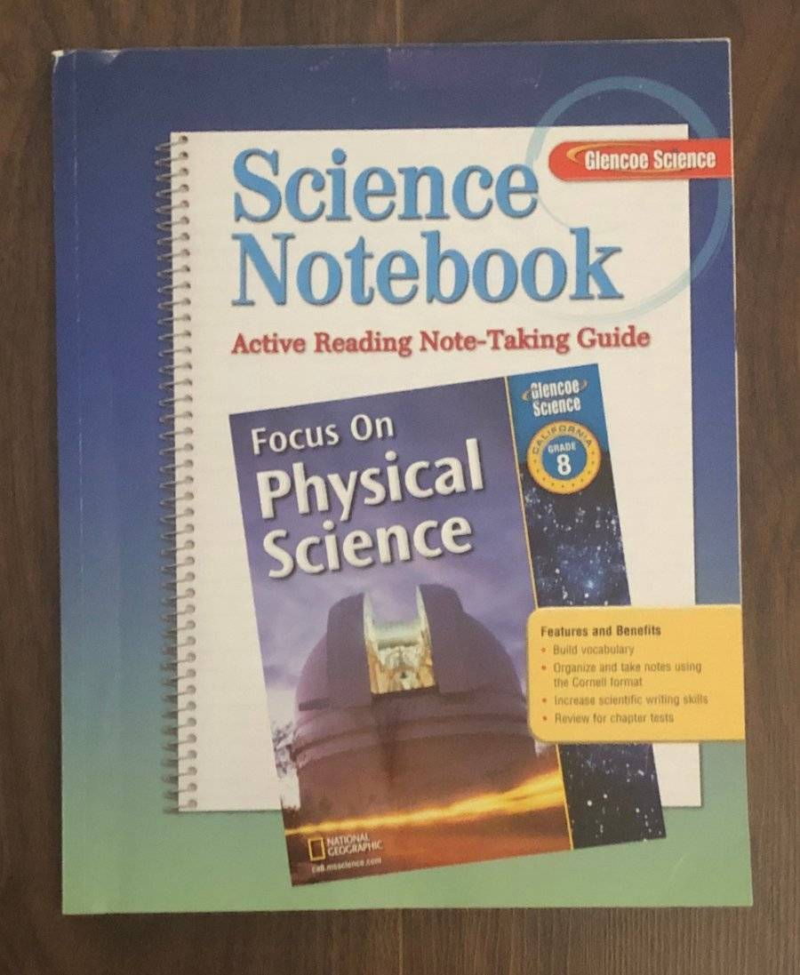 small resolution of FOCUS ON PHYSICAL SCIENCE NOTEBOOK GLENCOE SCIENCE
