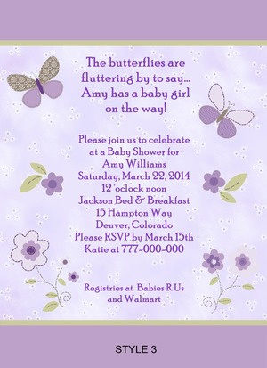 Details About Carter S Garden Party Erfly Baby Shower Invitations