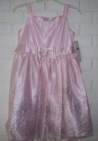 Pink/Silver Special Occasion Princess Dress Girls Plus ...