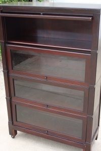Barrister bookcase 4 stack - vintage antique cabinet with ...