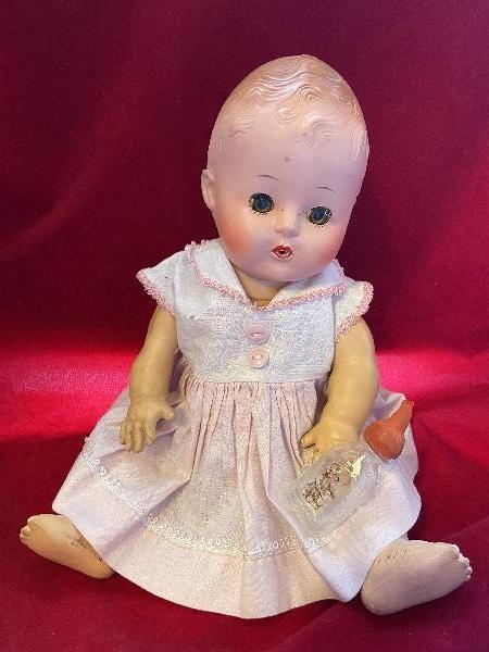 Tiny Tears Clone Vintage 1950s 12 Baby Doll Drink Wet Cry