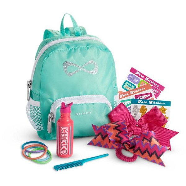 American Girl Doll NFINITY CHEER Accessories SET backpack hairbows for outfit 887961683110   eBay
