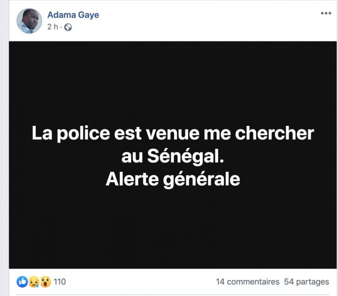 Reçu jeudi par Wade : Le journaliste Adama Gaye arrêté par la Dic