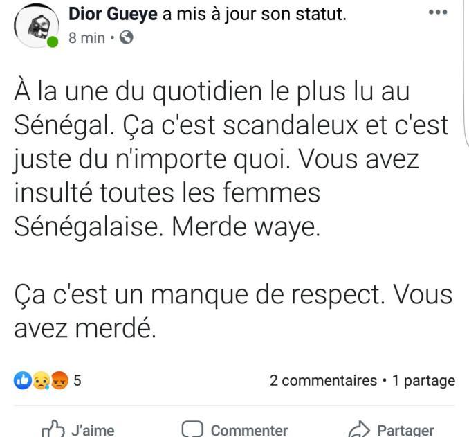 """""""Les Sénégalaises capables de vendre leur corps pour un iPhone"""" : L'OBS lynché sur les réseaux sociaux"""