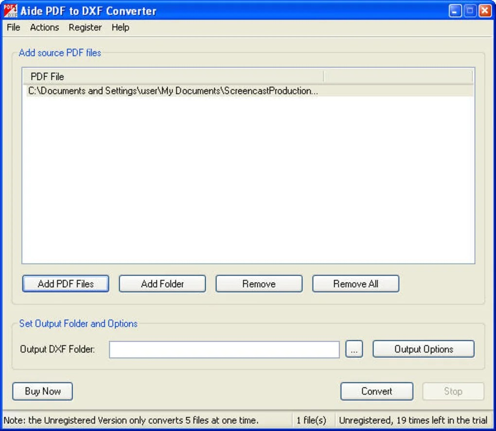 Aide PDF to DXF Converter  Download