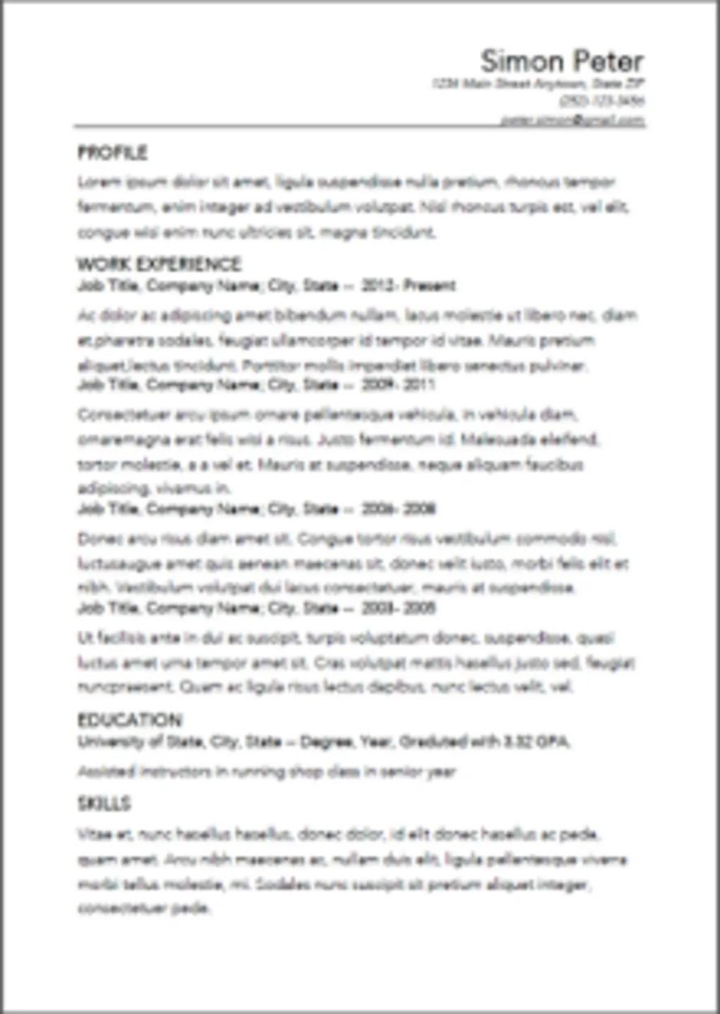 Smart Resume Builder CV Free For Android Download