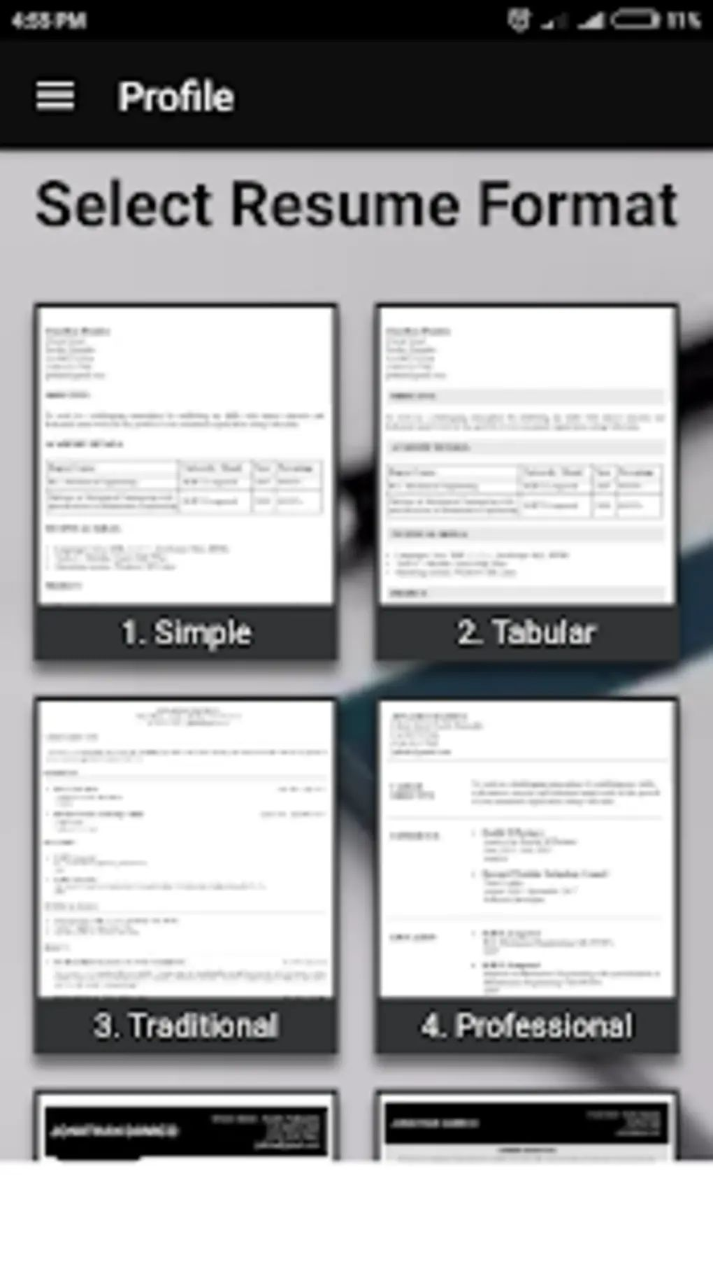 free resume app for android