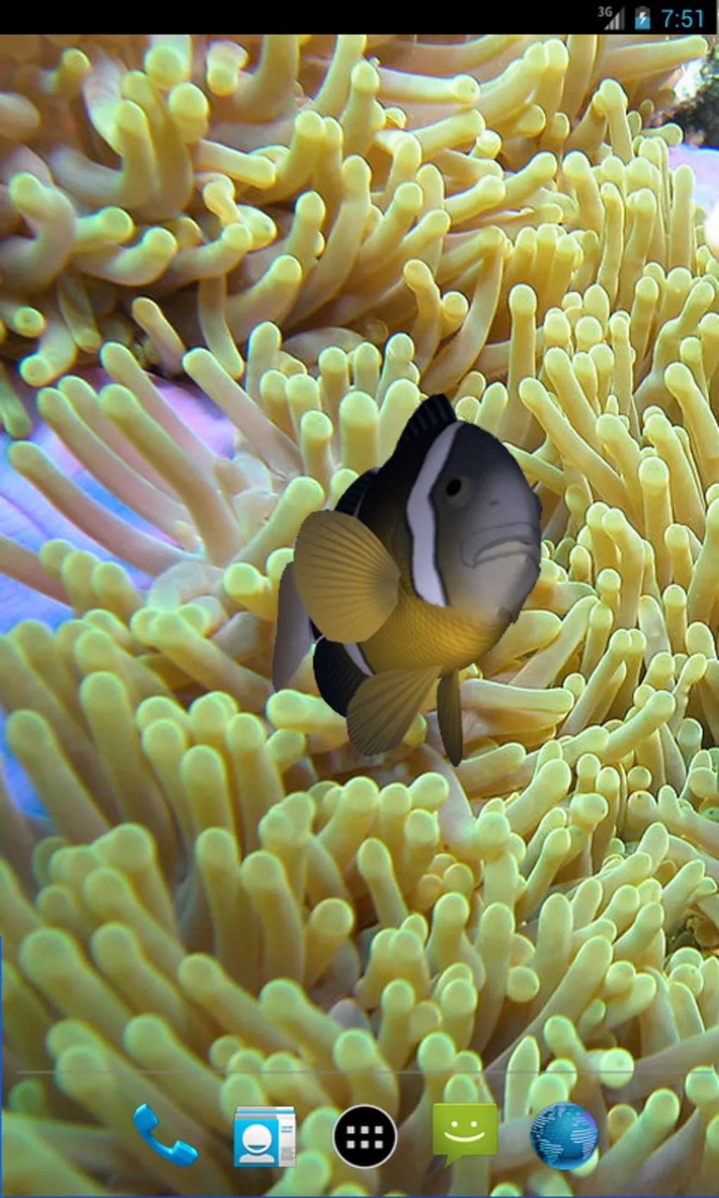 Animated Aquarium Wallpaper For Windows 7 Free 3d Clownfish Live Wallpaper For Android Download