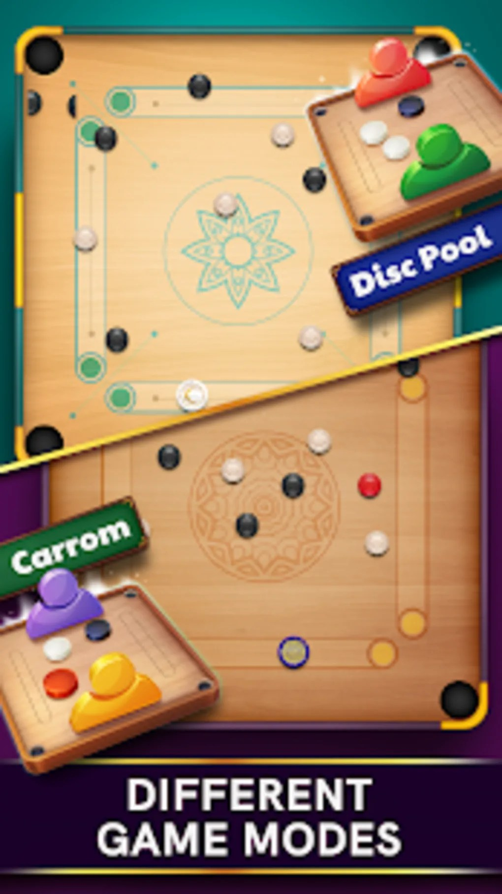 Permainan 8 Pool : permainan, Carrom, Android, Download