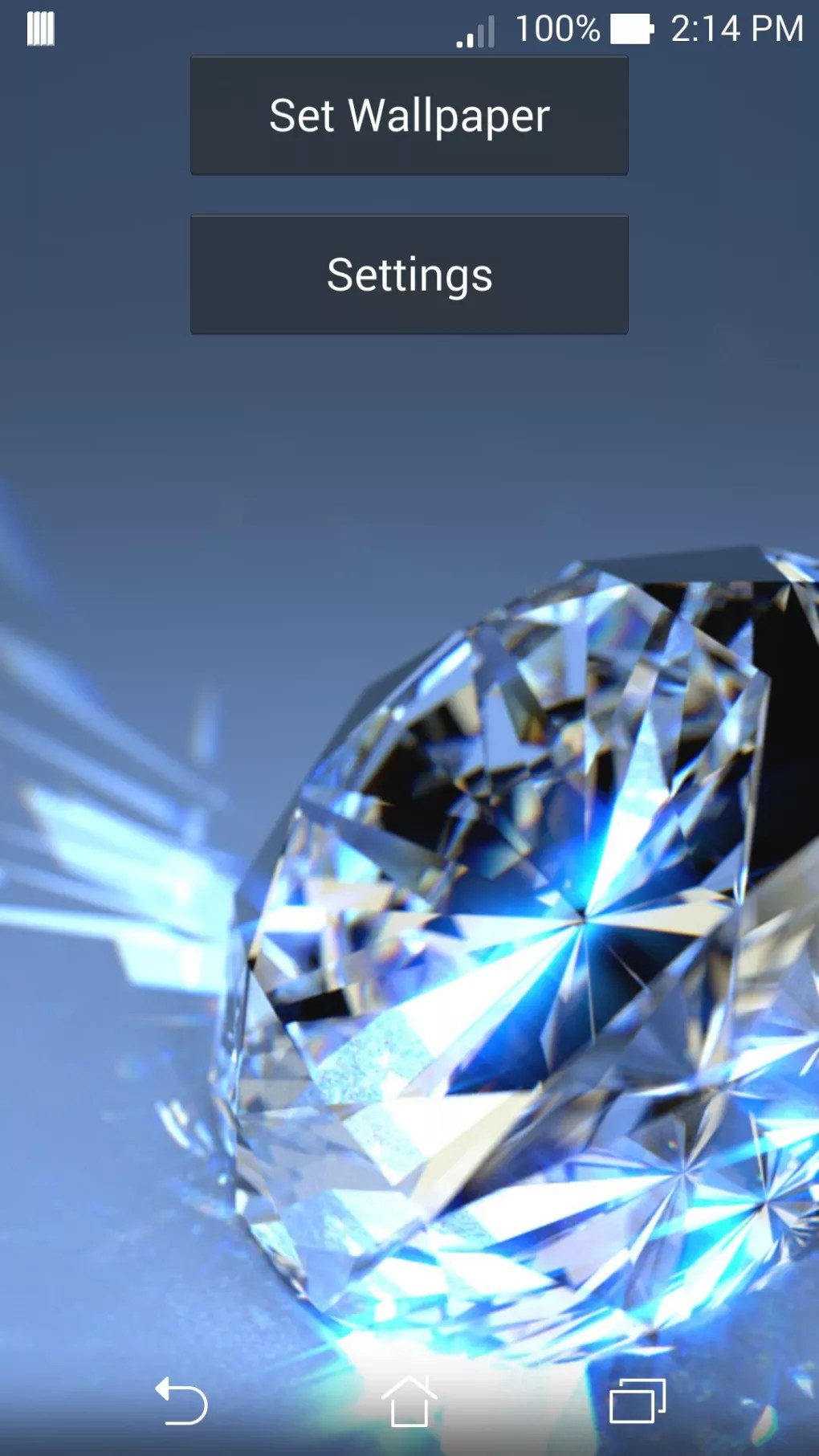 Android 3d Wallpaper 9apps Interactive Diamonds Wallpaper For Android Download