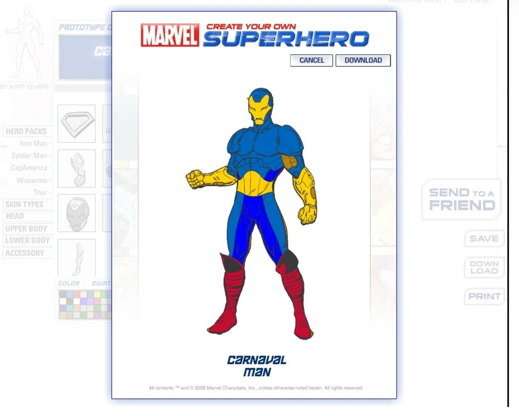 Marvel  Create Your Own SuperHero Online