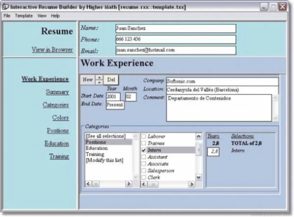 Interactive Resume Builder  Descargar