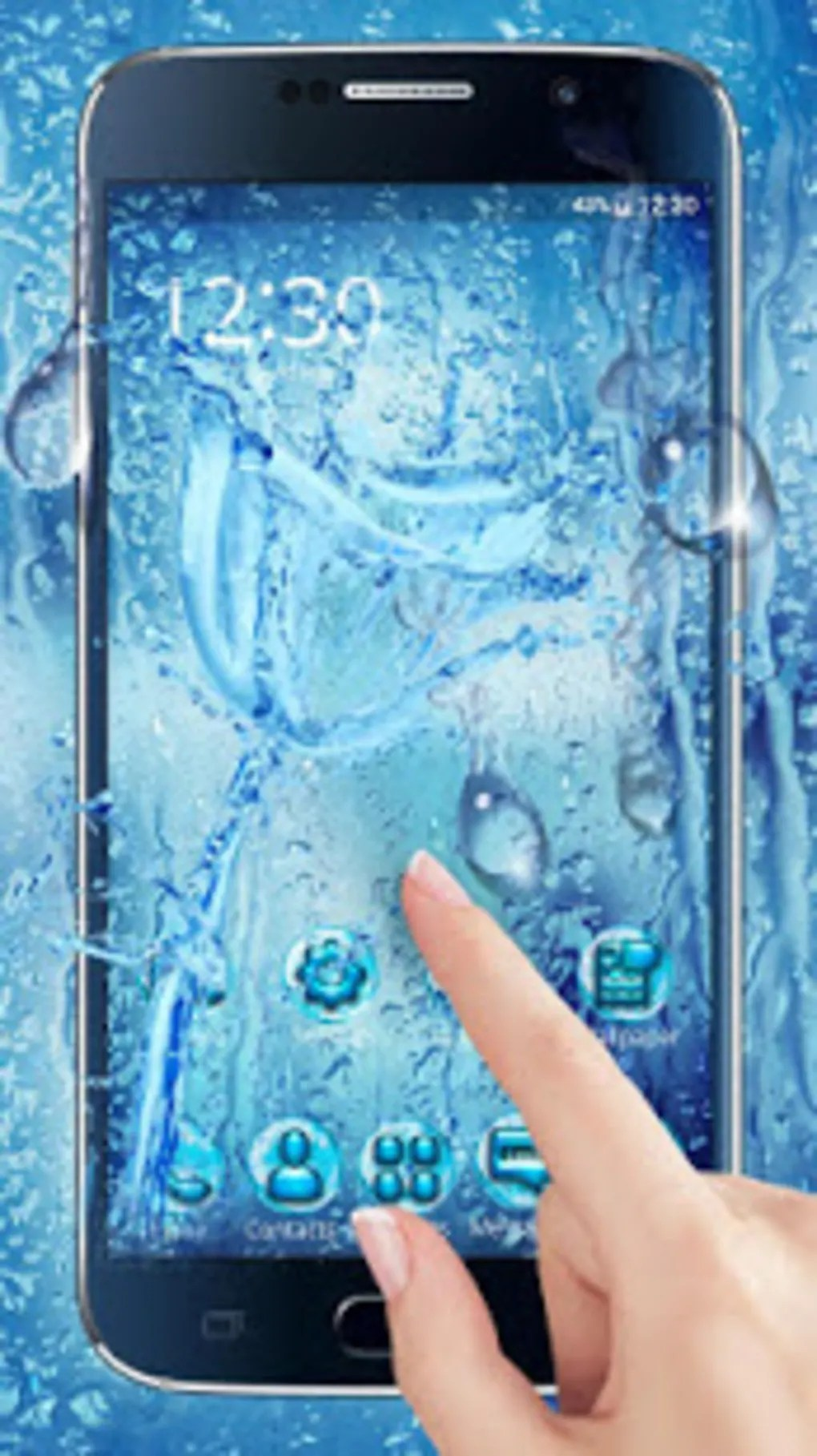 water drops themes hd