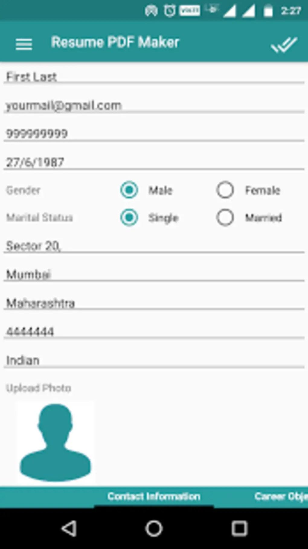 Resume PDF Maker CV Builder For Android Download