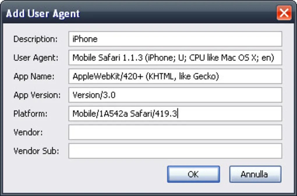 User Agent Switcher  Download