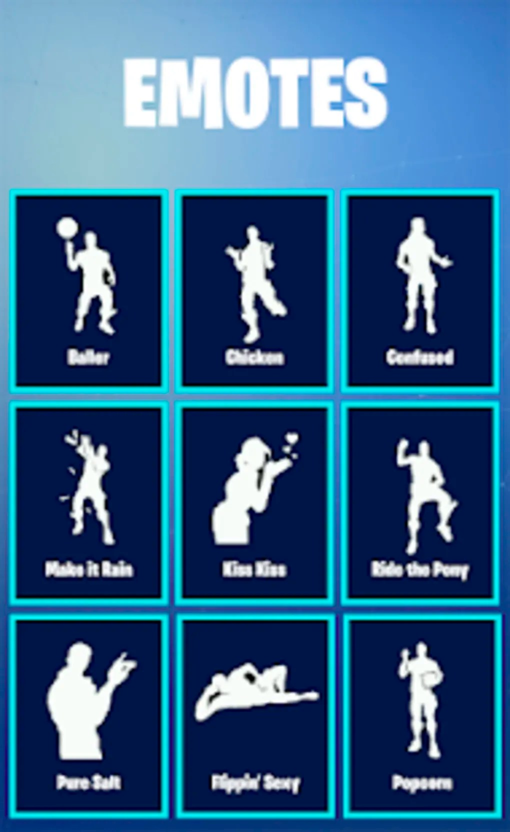 - all fortnite dances names list