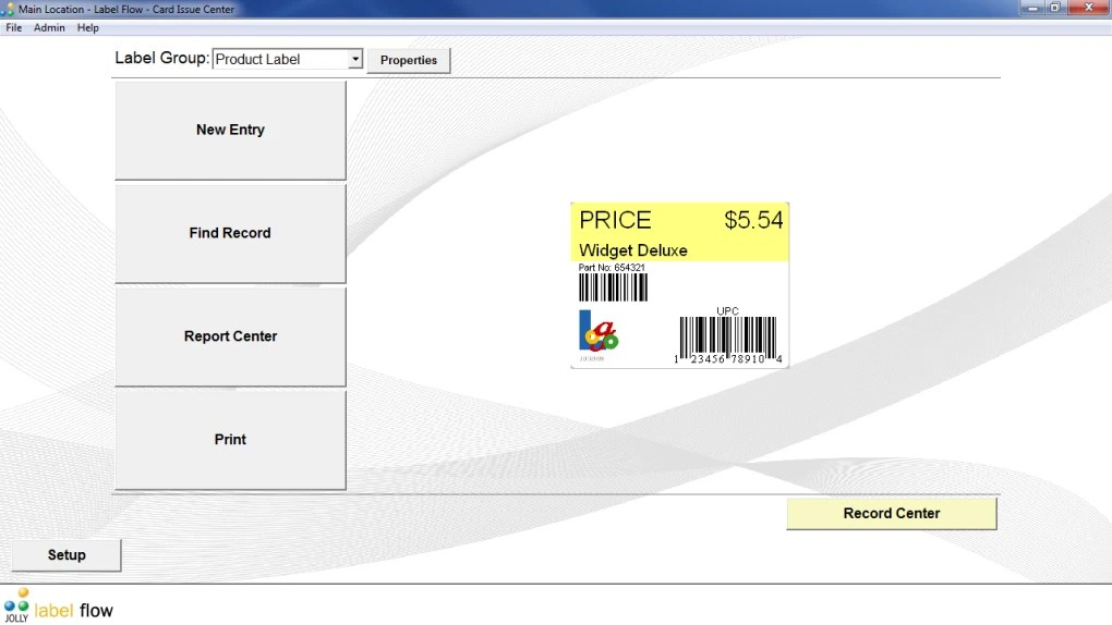label flow free barcode