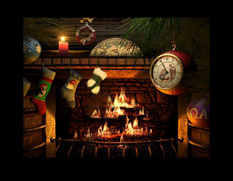 Free Animated Fireplace Wallpaper Fireside Christmas 3d Screensaver Download